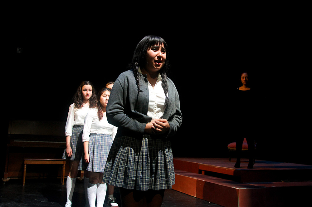 student theater performer