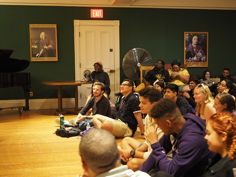 student audience for music performance Dodd House