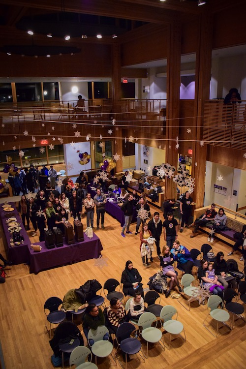 View from above of Baxter Great Hall