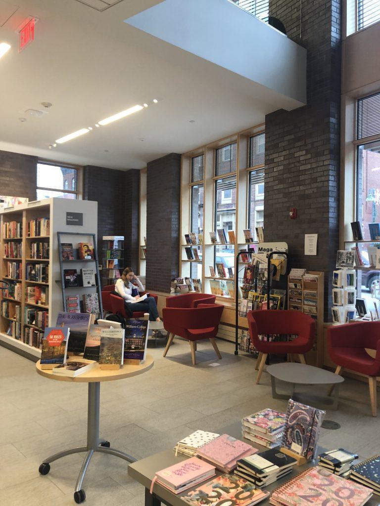 Student in the Williams Bookstore